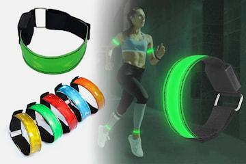 Armband med LED 2- eller 4-pack