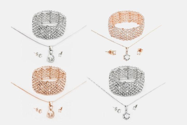 Aku eller North smyckeset med Swarovski-kristaller