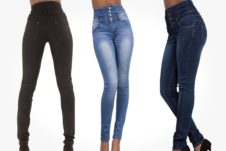 Jeans med hög midja (1 av 6)