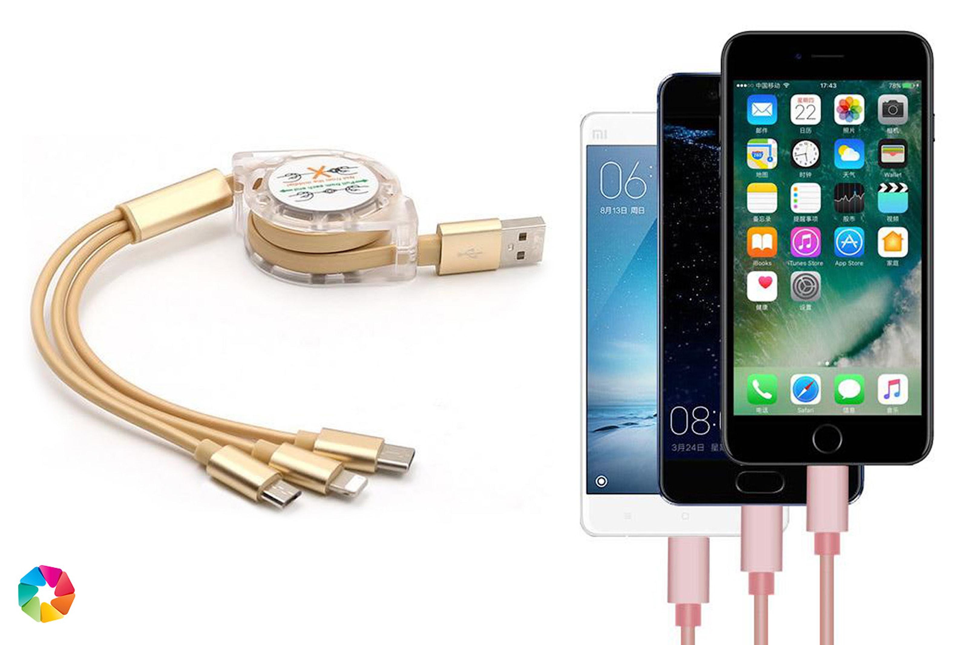 USB-kabel för iPhone och Android