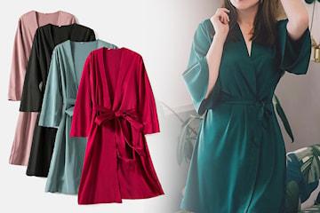 Kimono morgonrock med lyster