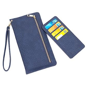 Blå, Clutch in PU-Leather, Kuvertväska i PU-läder, ,