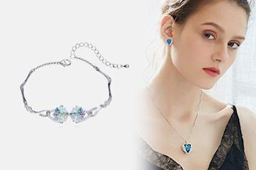 Smyckesset med Swarovskikristaller