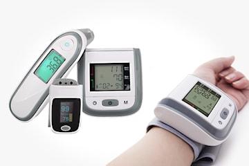 Blodtrycksmätare, termometer och pulsoximeter