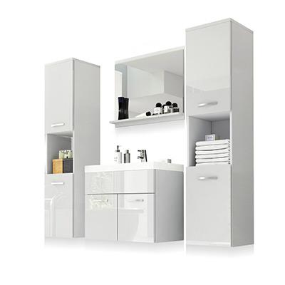 White, Chelsea Bathroom Set 5 Pcs, Badrumsmöbler Chelsea: 5 delar inkl. handfat, ,  (1 av 1)