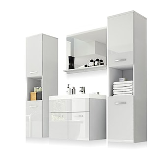 White, Chelsea Bathroom Set 5 Pcs, Badrumsmöbler Chelsea: 5 delar inkl. handfat, ,