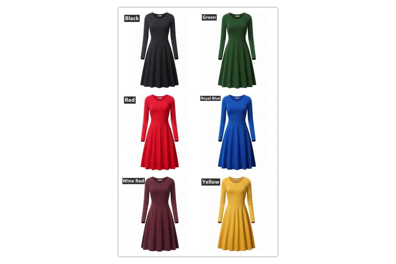 Söt klänning med vippig kjol