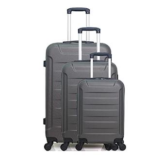 """Grå, Set of 3 suitcases """"Wave Paris"""", Set med tre resväskor, ,"""