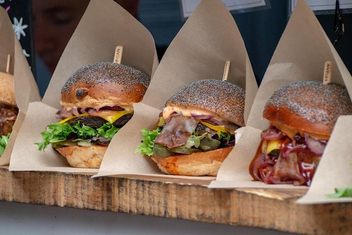Vegansk hamburgaremeny