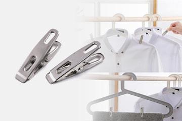 Klädnypor i rostfritt stål 50- eller 100-pack