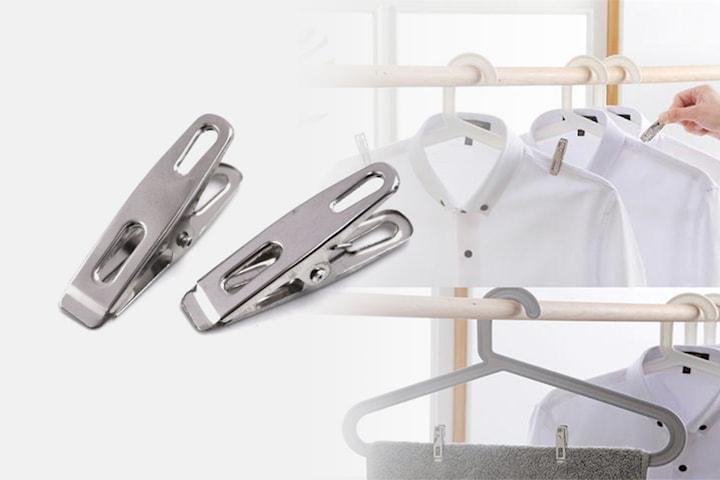 Klesklyper i rustfritt stål 50- eller 100-pack