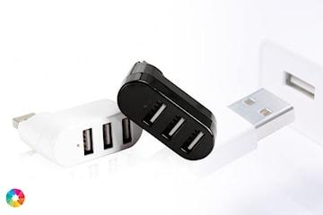 USB-adapter med tre USB-portar
