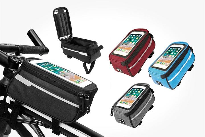 Sykkelveske med mobiltelefonlomme