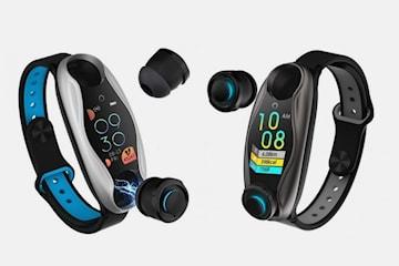 2-i-1 aktivitetsarmband med hörlurar