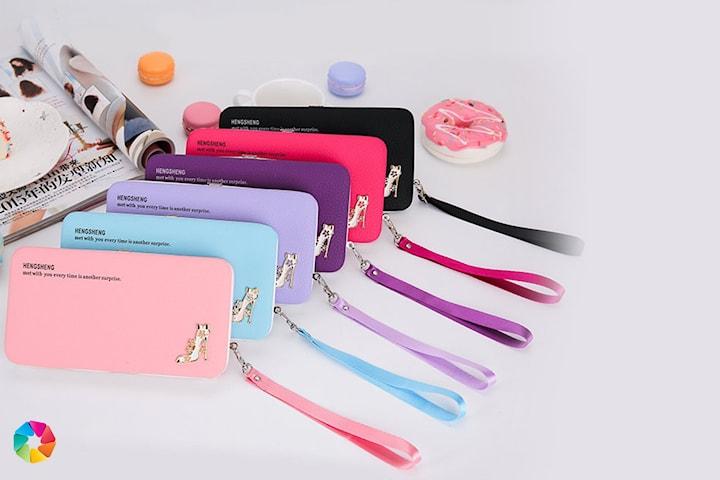 Plånbok med plats för mobiltelefon