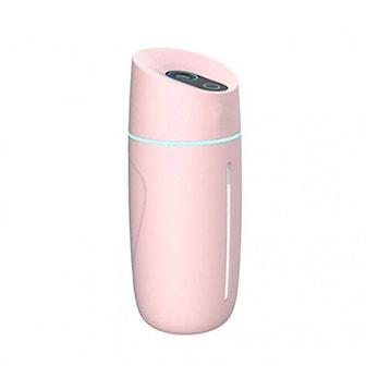 Rosa, Ultrasonic Mini USB Humidifier, Mini USB Luftfukter,
