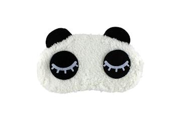 Fluffig Sovmask för resor och avslappning - Blundande Panda