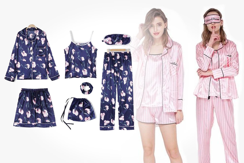 Pyjamasset 7 delar i dammodell (1 av 8)
