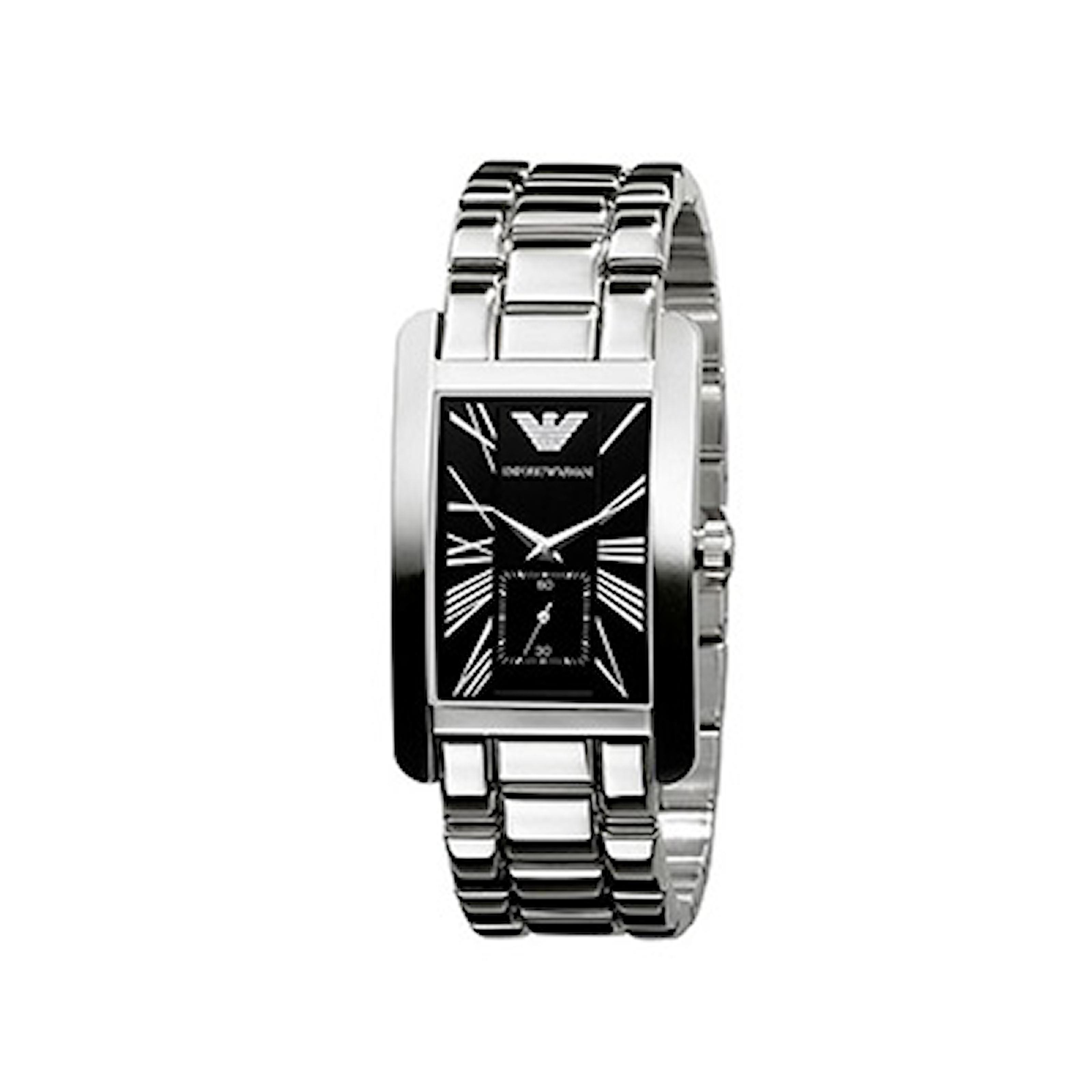 AR0156, AR0156, Armband: silver, rostfritt stål. Urtavla: svart, rostfritt stål. Mått: 32 mm,