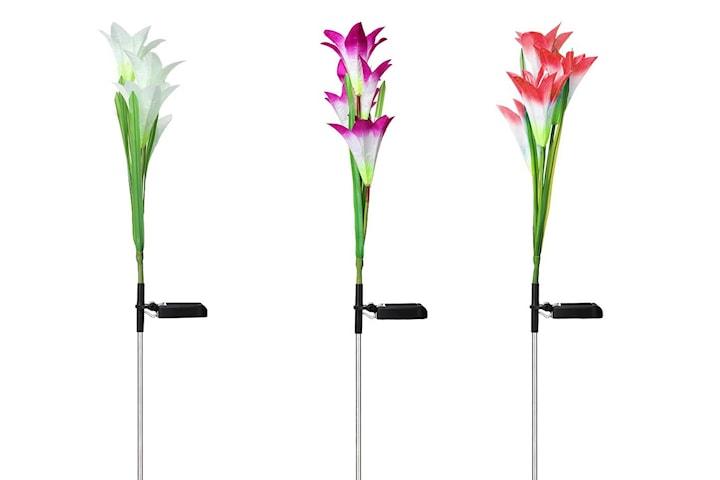 LED-lampe med liljer