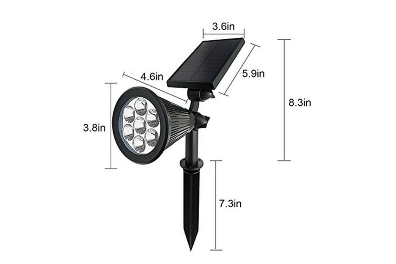 LED-spotlight med solcellspanel
