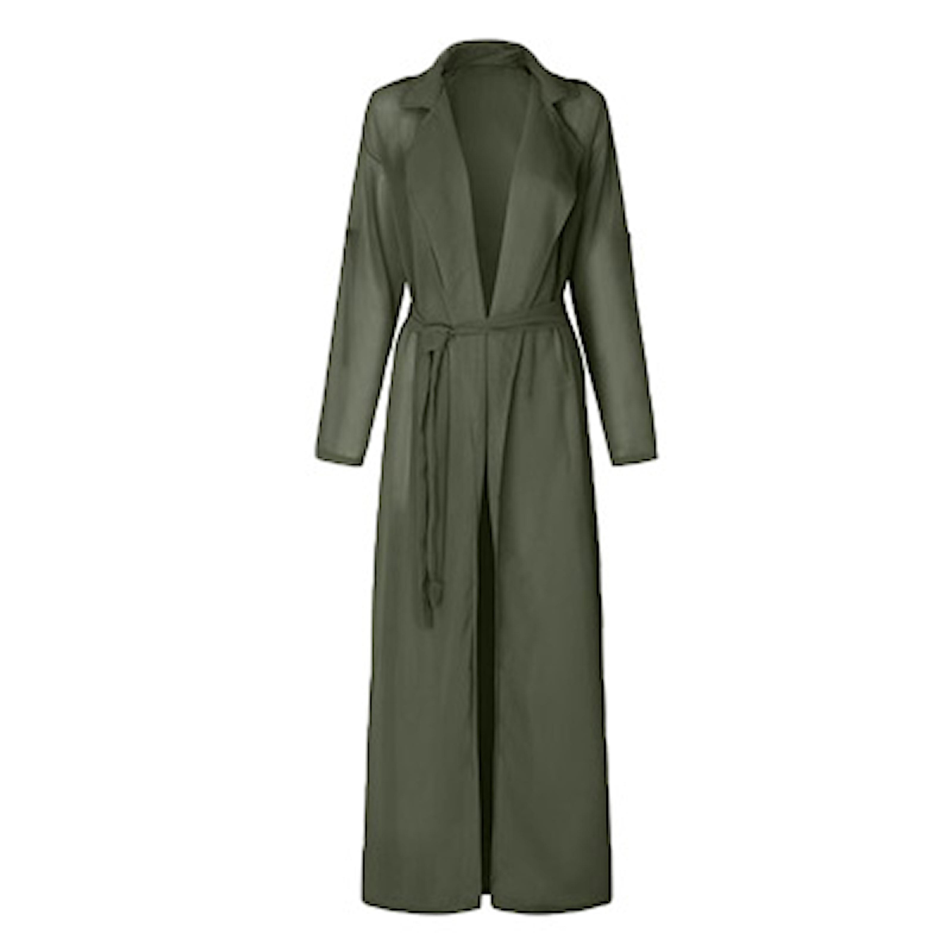 Grønn, S, Chiffon Coat, Elegant chiffon kåpe, ,
