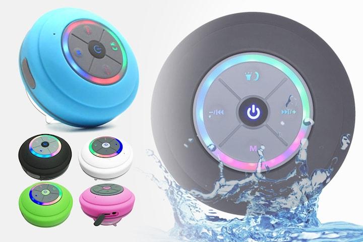 Vattentålig högtalare med LED-ljus