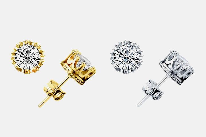 Örhängen med Swarovski-kristaller
