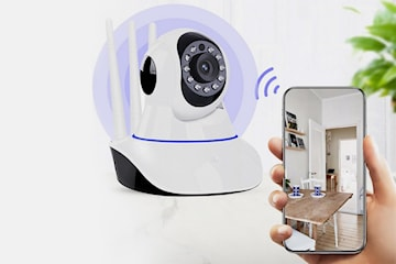 Overvåkningskamera med alarm og nightvision