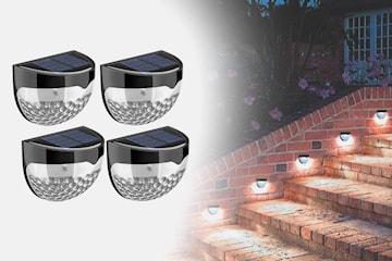 Trådløs solcellelampe med LED-lys