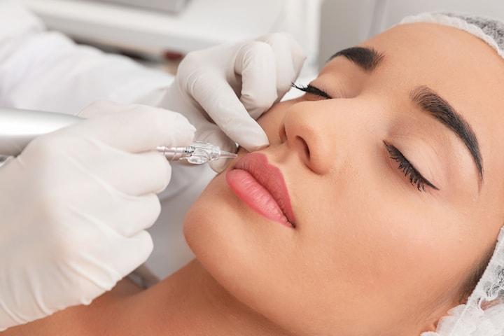 Permanent eyeliner eller läppkontur