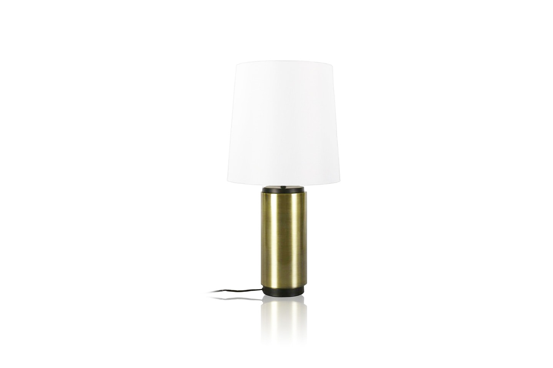Trendig bordslampa i mässing