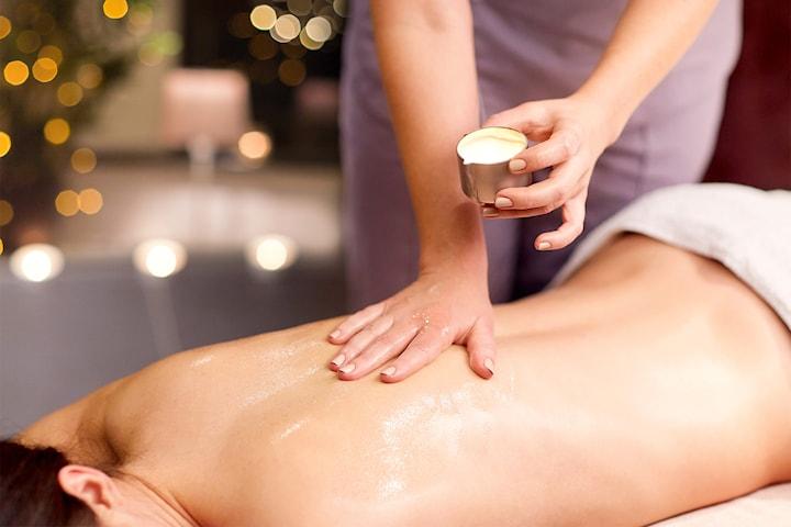 Hot candle-massage för hela kroppen, 60 eller 90 min