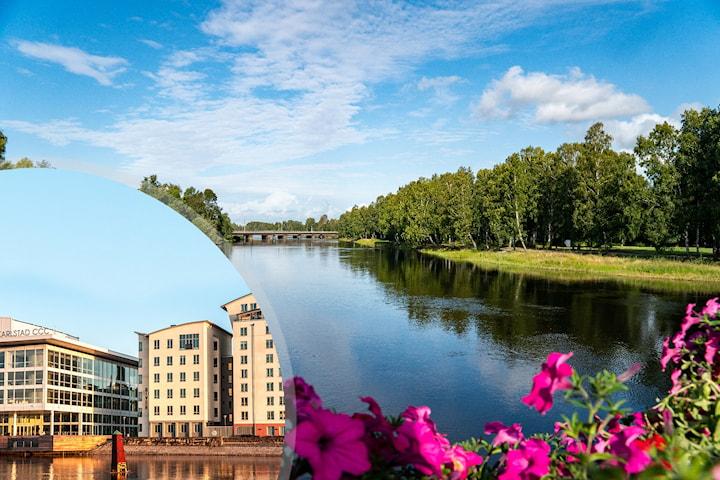 2 eller 3 nätter för 2 i Karlstad med kanalutsikt inkl. frukost