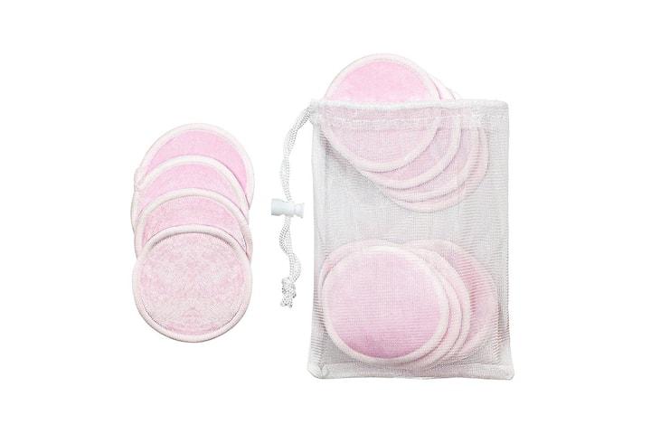 16x Gjenbrukbare Sminkepads - Rosa