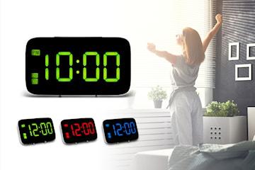 Digital vekkerklokke med LED