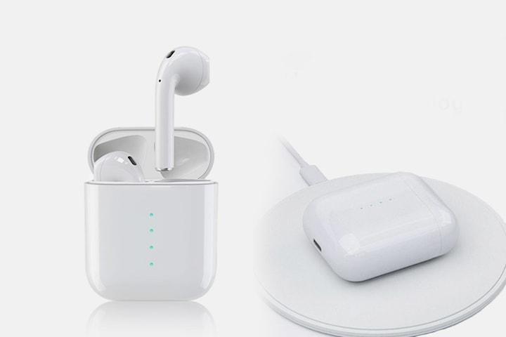 TWS i100 Bluetooth-hörlurar med trådlös laddning
