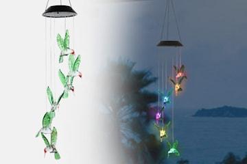 Kolibri-vindklokke med fargeskiftende LED-lys