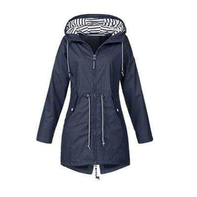 Mörkblå, L, Hooded Raincoat, Vattenavstötande vindjacka, ,  (1 av 1)