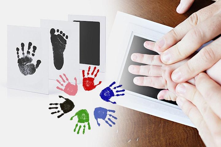 Set för babyhand- och fotavtryck