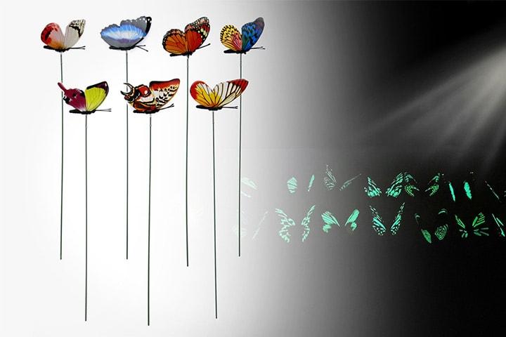 Lysende sommerfugler 25- eller 50-pack