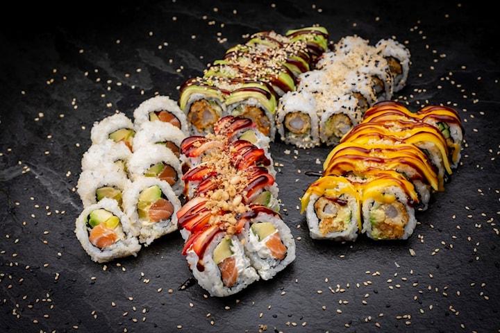 Takeaway sushi-pakke Californian Dream fra Sushimi