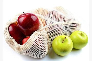 Ekologiska frukt- och grönsakspåsar, 3-pack