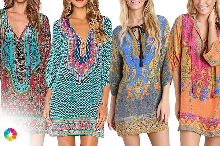 Boho-klänning
