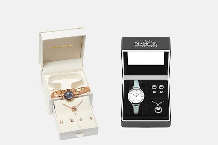 Pierre Cardin klocka och smycke gåvoset