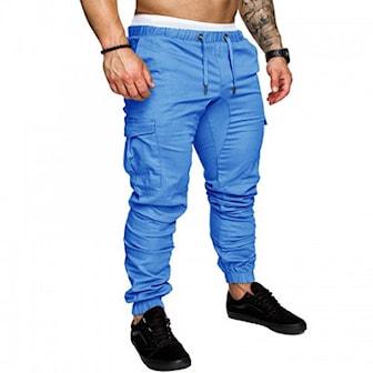 Mørkeblå, XL, Casual Pants For Men, Joggebukser til menn, ,