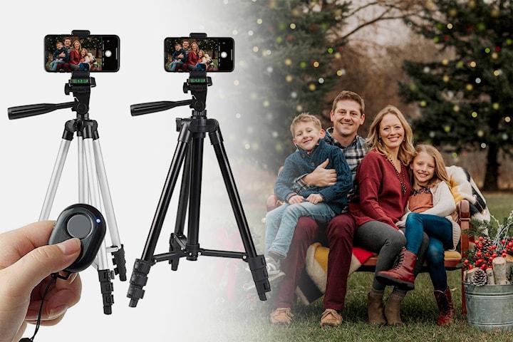 Tripod for smarttelefonen og kamera