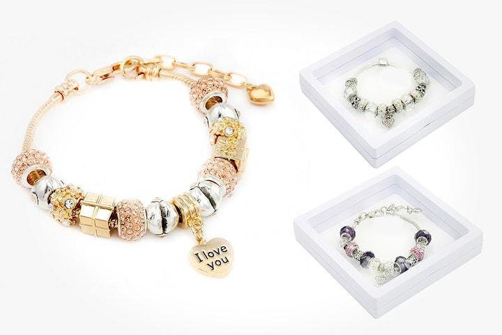 Armband med Swarovski-kristaller