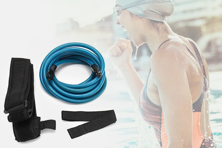 Motstandsbånd for svømmetrening inkludert belte