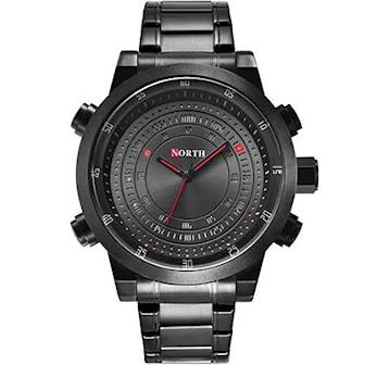 Svart, North Classic mens watch, , ,